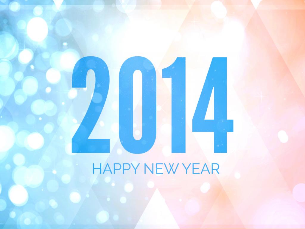 2014 happy new year background slides